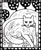 Orange Cat in the Plum Orchard