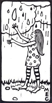Girl Welcoming Rain