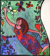 Joy dancing or flying